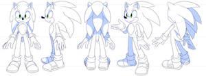 Sonic ref sheet by Myly14