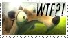 Scrat WTF Stamp by MrsEmmyJ