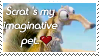 Scrat The Pet Stamp by MrsEmmyJ