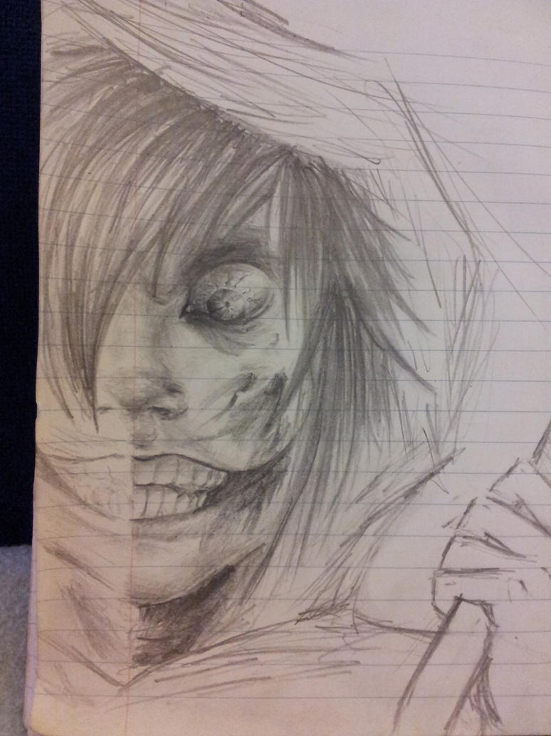 how to draw cute jeff the killer