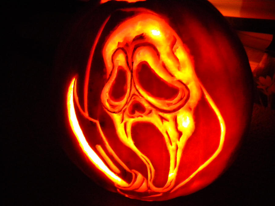 The gallery for scream pumpkin stencils for Scream pumpkin template
