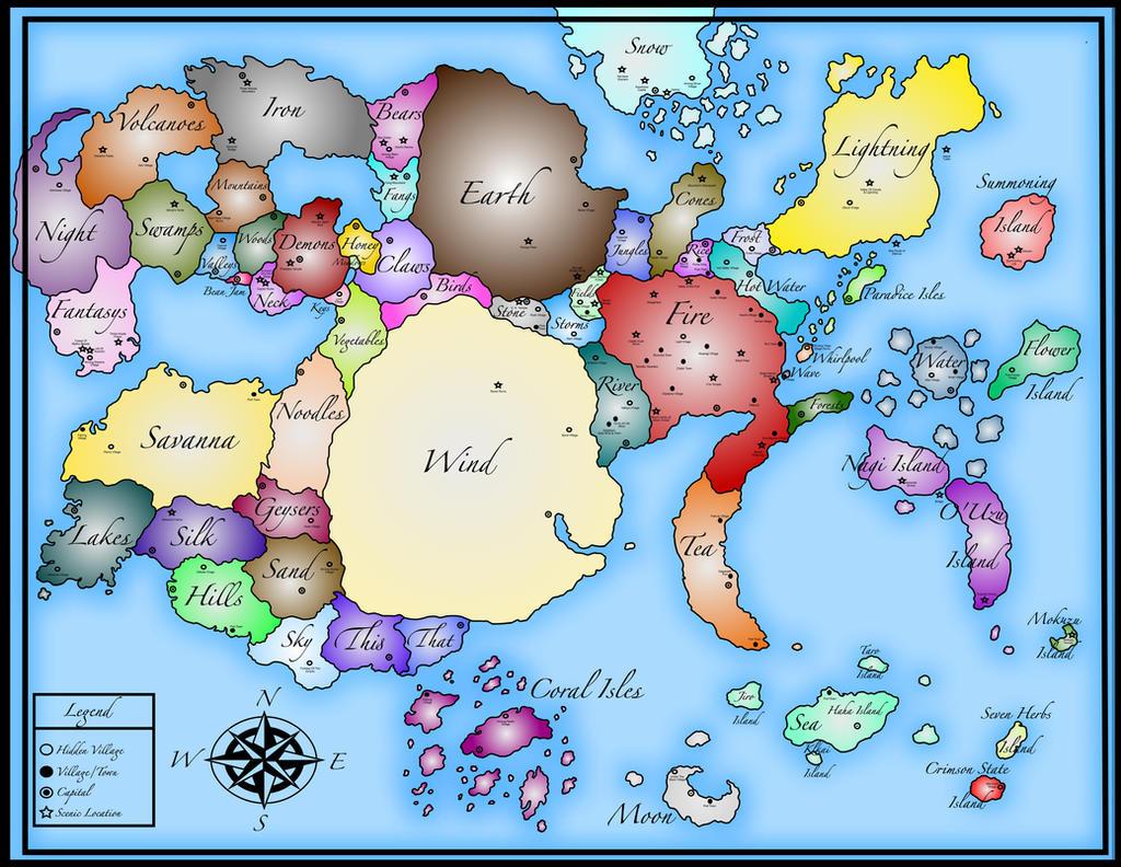 Naruto World Map by Mcskeleton on DeviantArt