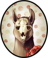 skull llama by cocoaspen