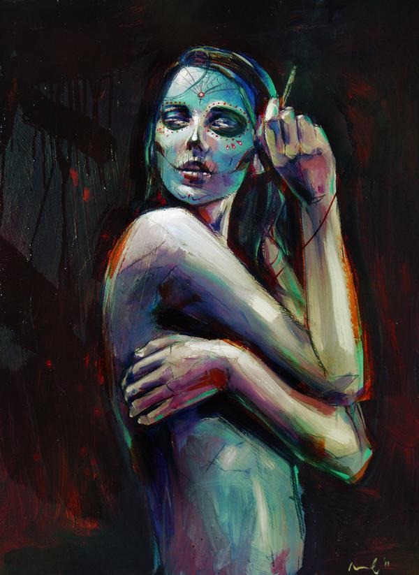 skull girl 3 by cocoaspen