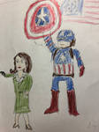Captain America and Peggy Carter by DylanofDisney