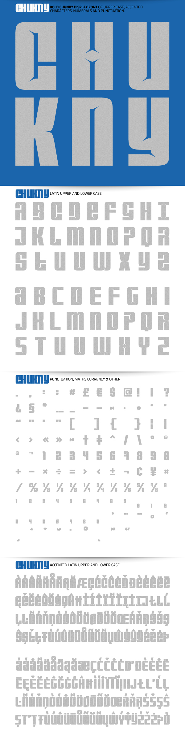 Chukny Typeface by atobgraphics