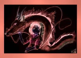 Negartwork - Pink Peace of Sen by AzureParagon