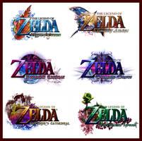 Zelda Logo Compilation IV by AzureParagon