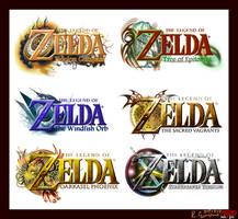 Re-Upload: Zelda Logo Set II by AzureParagon