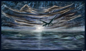 Sea Dragon Skywave by AzureParagon