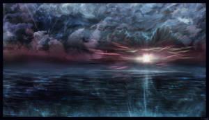 Ocean's Glow by AzureParagon