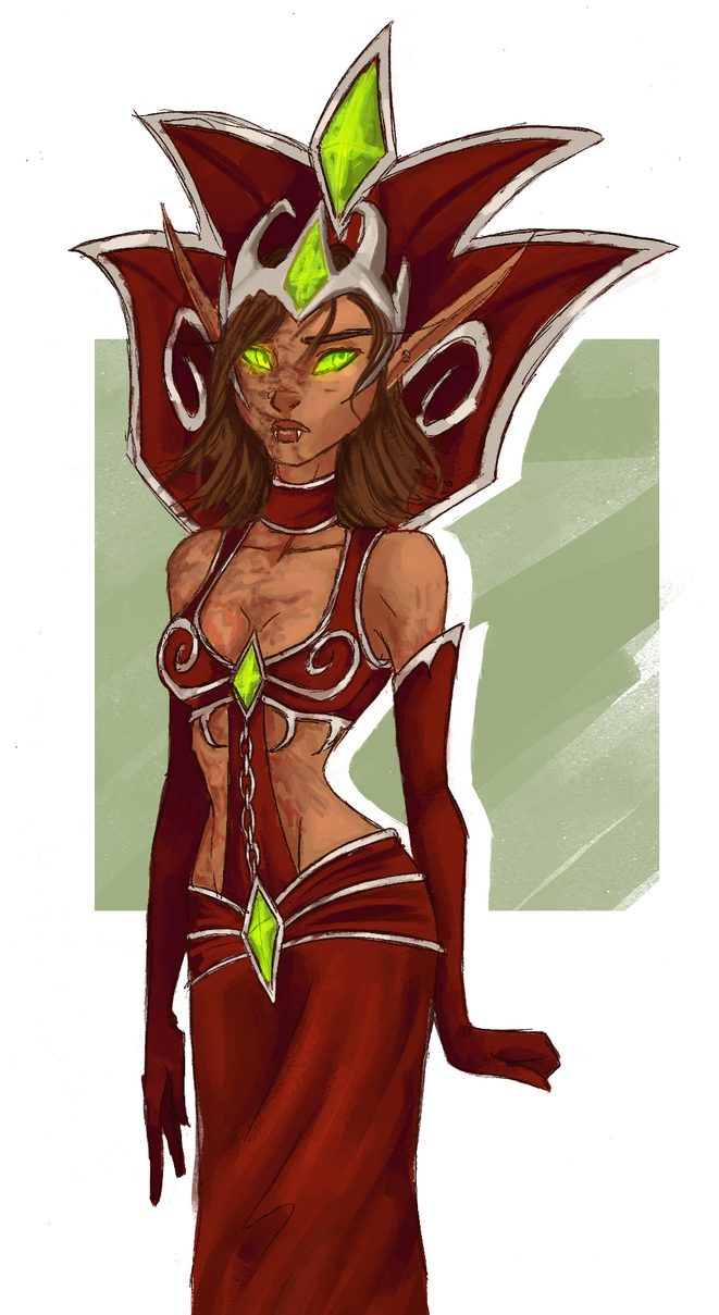 Thestas the Blood Queen by SoftlyVoiced