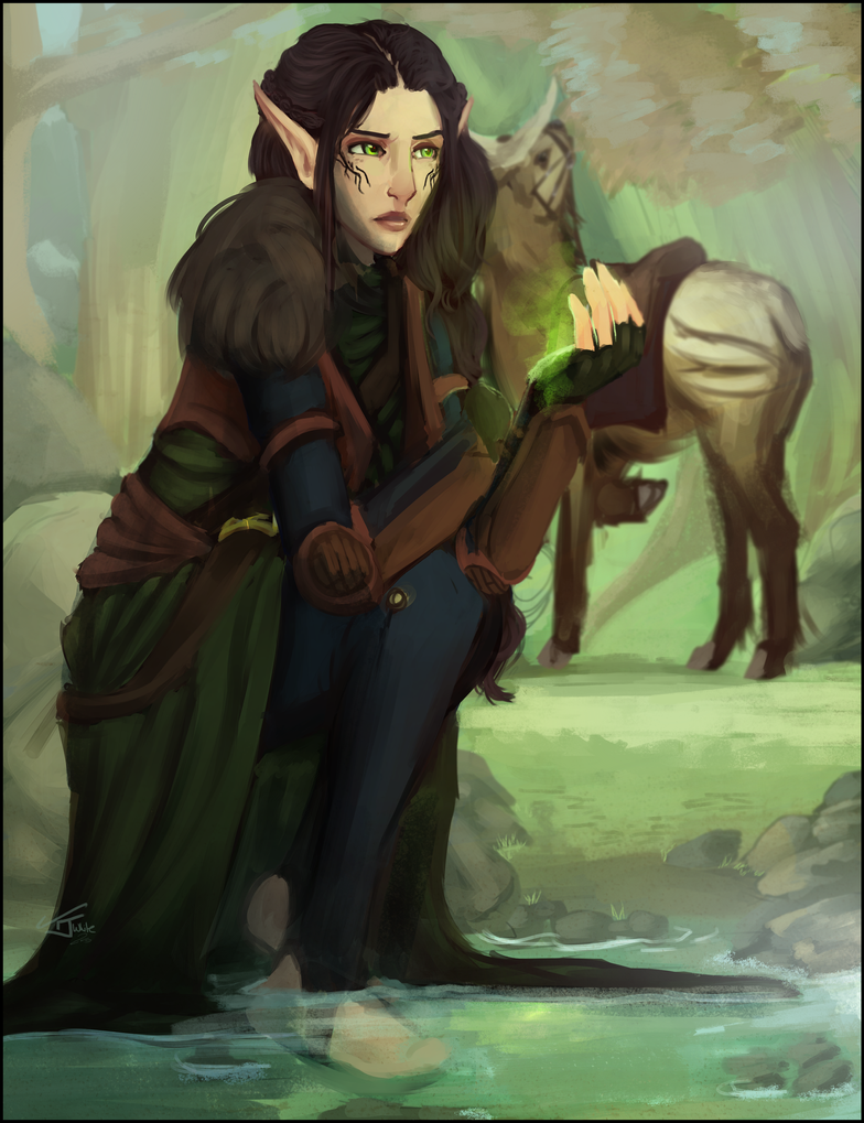 Lavellan by SoftlyVoiced