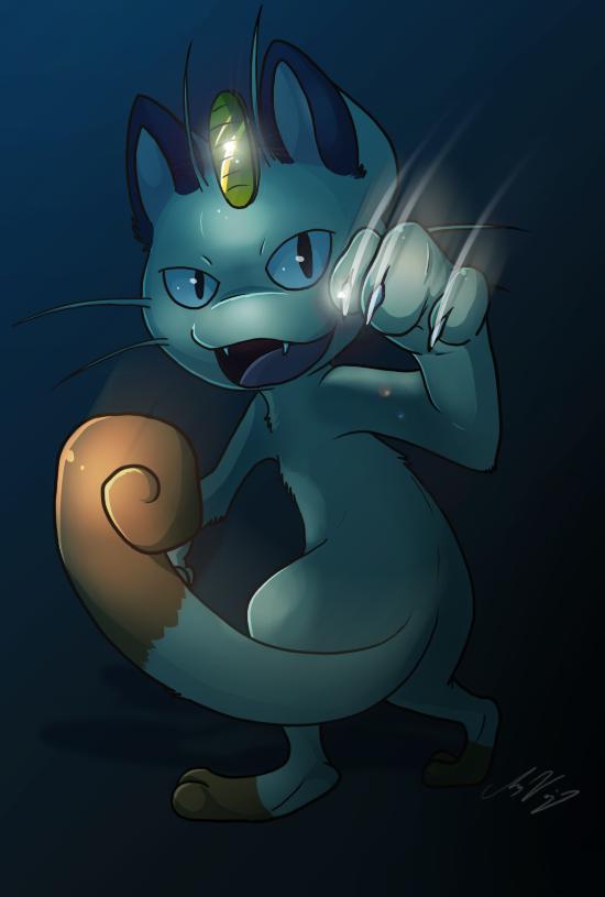 Speedpaint:: Meowth by Naoki-Wolf