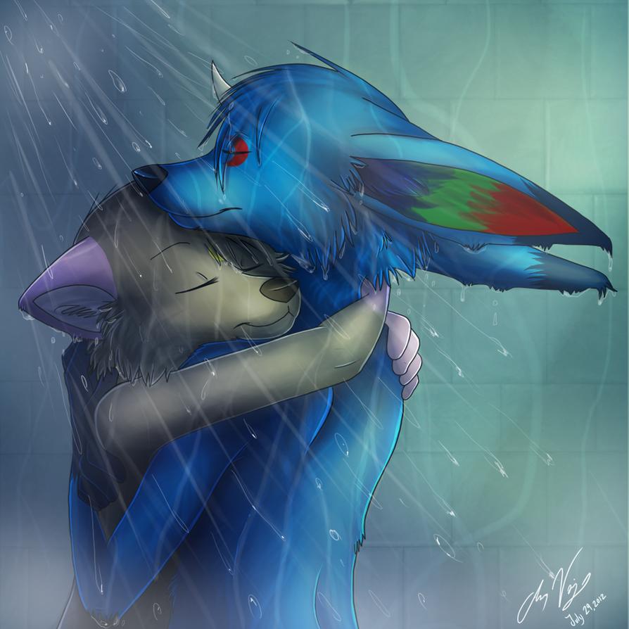 Steamy Shower by Naoki-Wolf