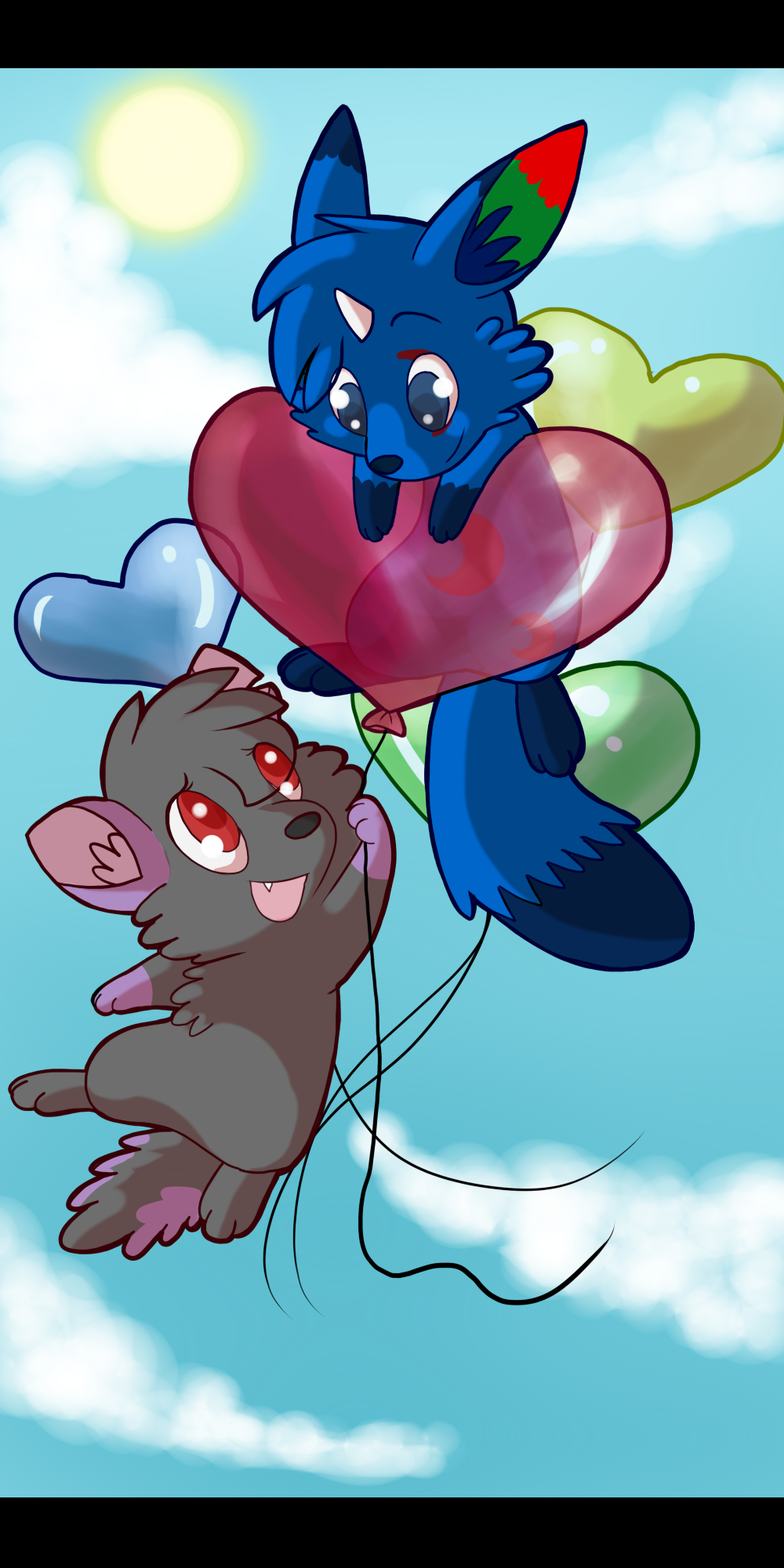 Heart Balloons by Naoki-Wolf