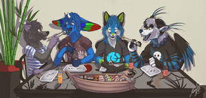 Sushi Time by Naoki-Wolf