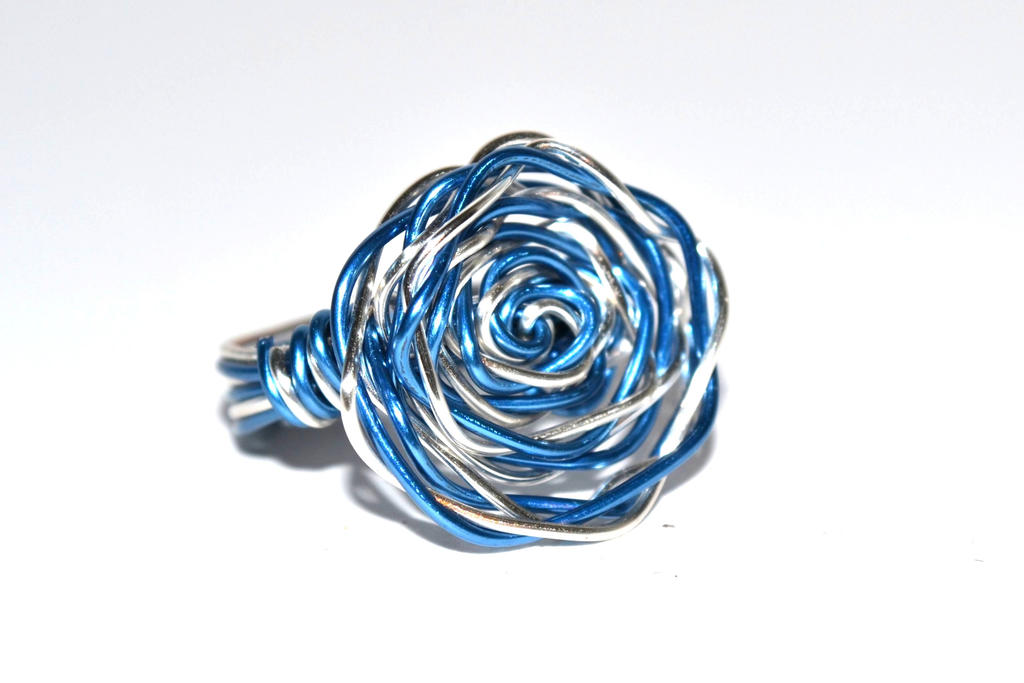 Fabulous Blue Rose - Wire Wrapped Ring by MindarlaDesign on DeviantArt QI52