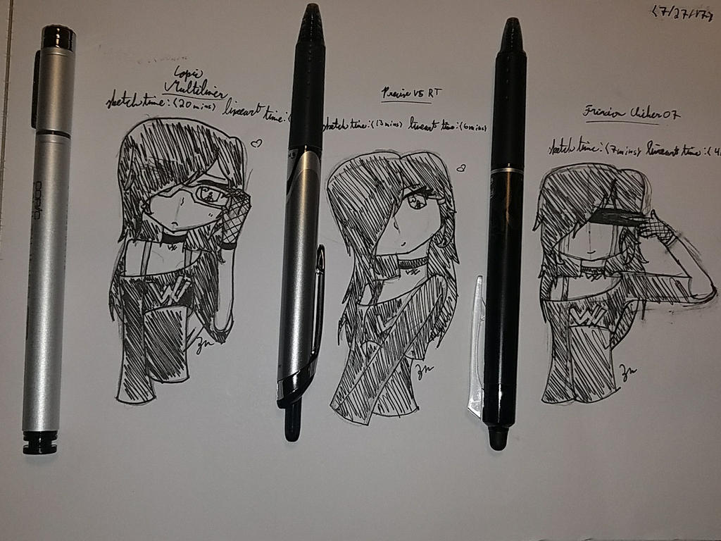 just trying out new pens dont mind me xD by attackontitanwriter6