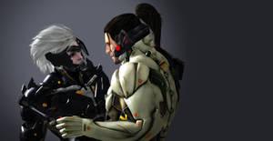 Metal Gear Rising Revengeance Raiden and Sam