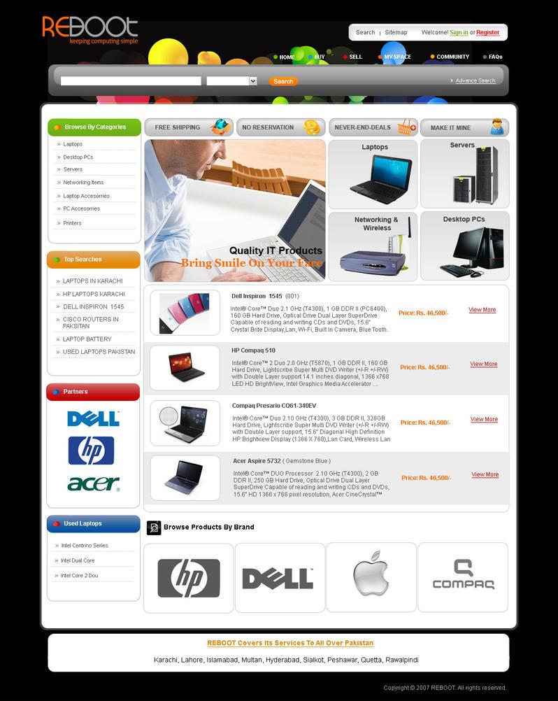 online laptop store template 1 by asimsidiqi on deviantart. Black Bedroom Furniture Sets. Home Design Ideas