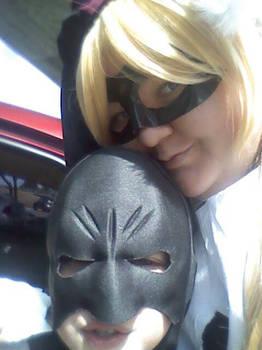 Harley caught the Batman!