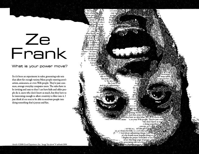 Ze Frank Layout in Type by thewalker09