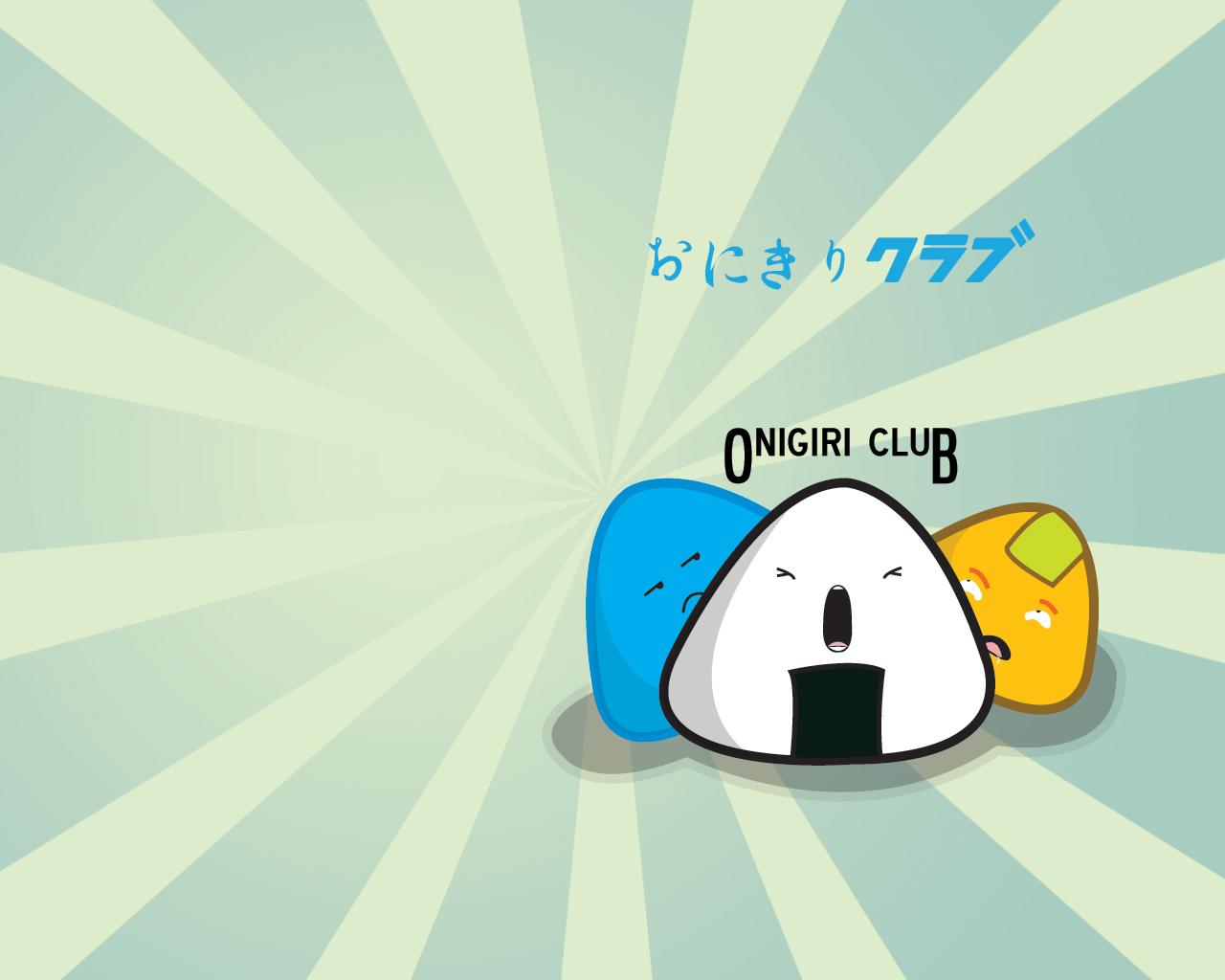 Onigiri Club Wallpaper