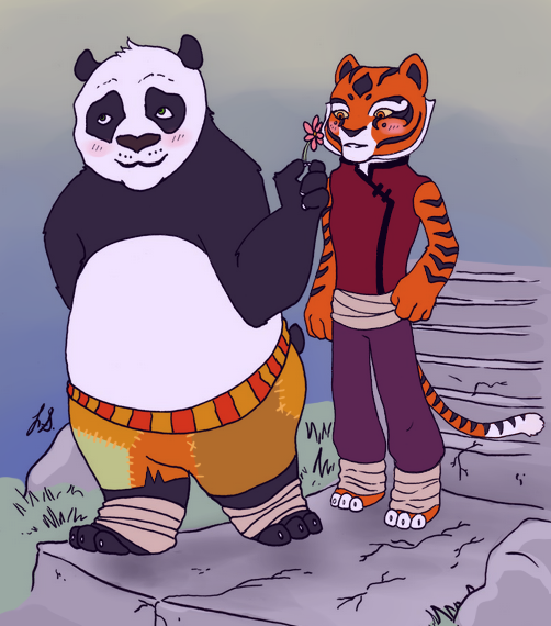 Kung Fu Panda: Po + Tigress by KascadeKrystee on DeviantArt