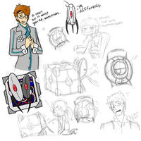Portal Doodles by KascadeKrystee