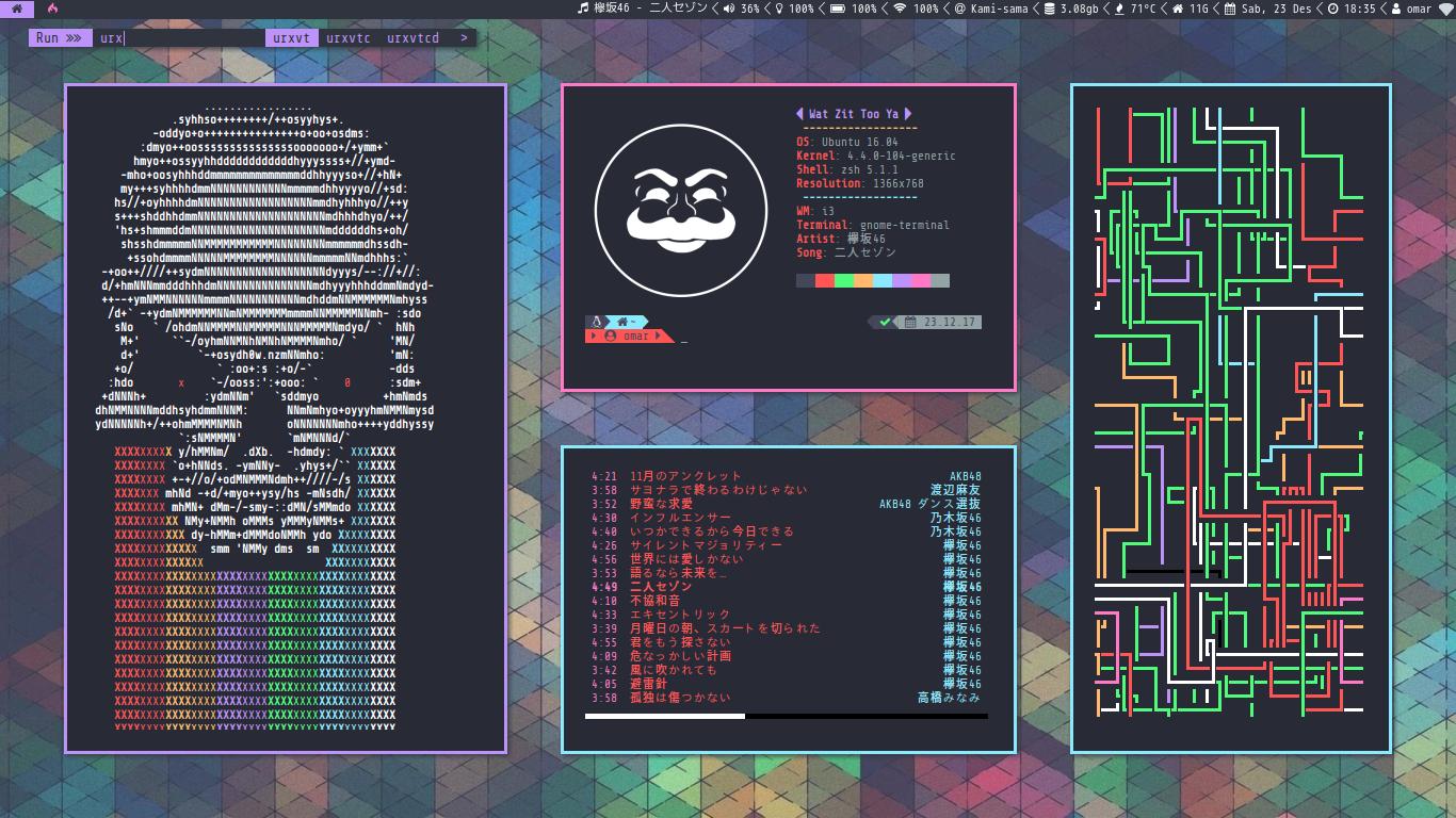 Trying i3-gaps on Ubuntu by fikriomar16 on DeviantArt