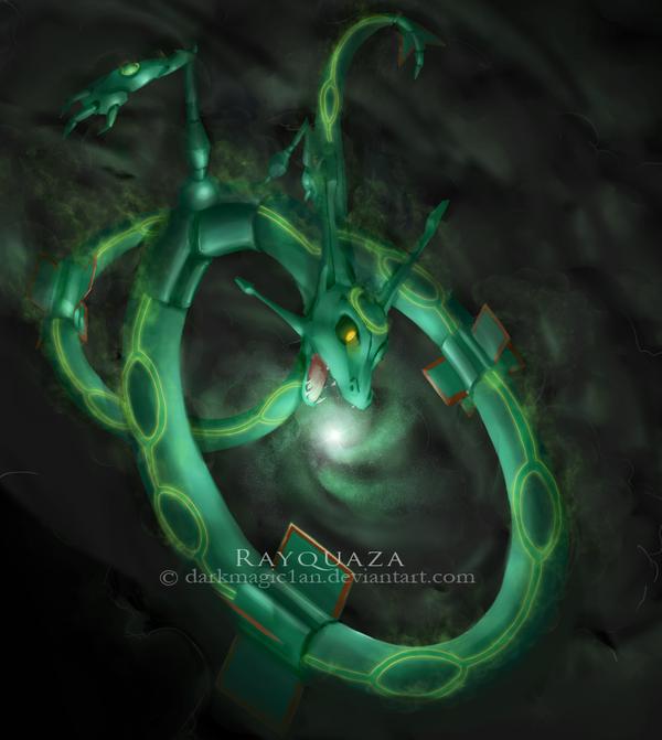 Rayquaza by darkmagic1an