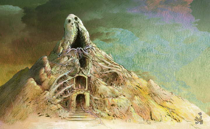 Hell Mountain by byombu