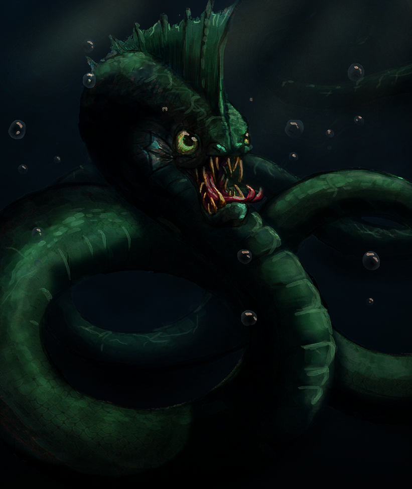 Midgard Serpent by Dreamprotected