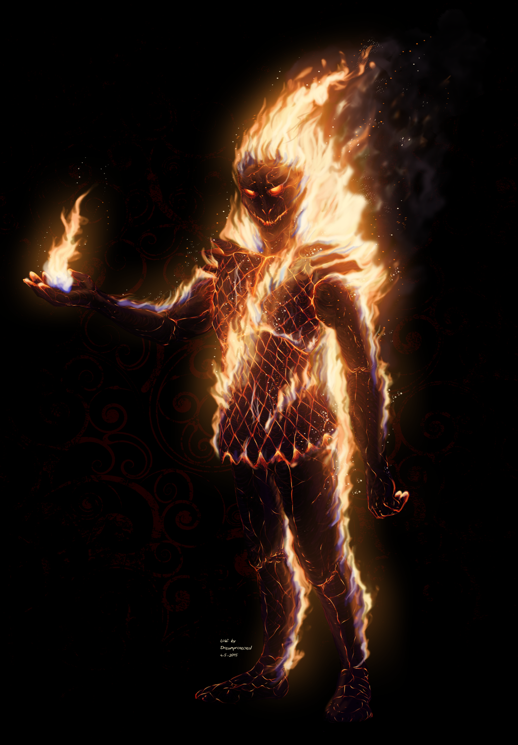 Loki the firegod by Dreamprotected