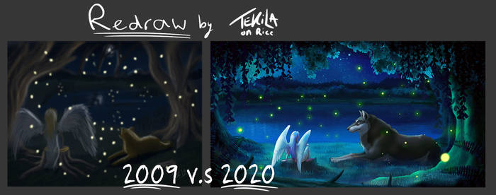Redraw: Fireflies (2009 vs 2020)
