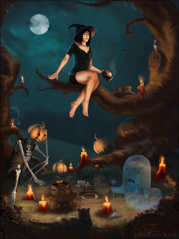 Halloween Tea Party by Lyraina