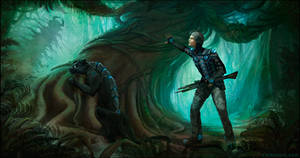 Sci Fi Hunter and Pet