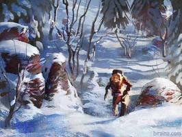 Snowy Hike by Lyraina
