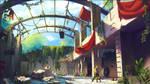 Postapocalyptic Kid's Base - Daytime by Lyraina