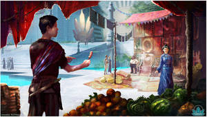 Project Oasis: Market Scene by Lyraina