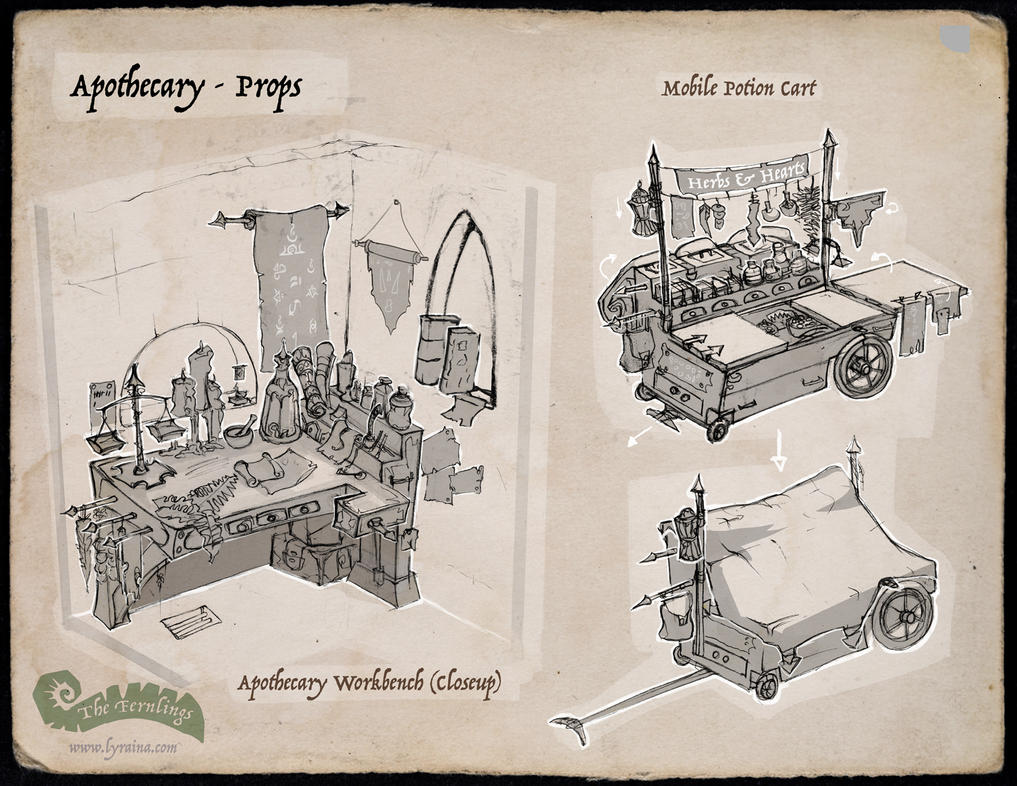 The Fernlings - Apothecary (Prop Callout) by Lyraina