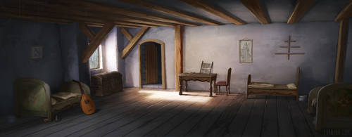 Martin Luther - Dorm Room by Lyraina