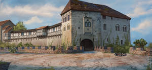Martin Luther - Wartburg Castle by Lyraina