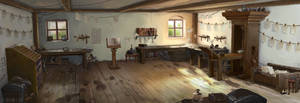 Martin Luther - Printer's Shop by Lyraina