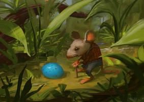 Blue Egg by Lyraina