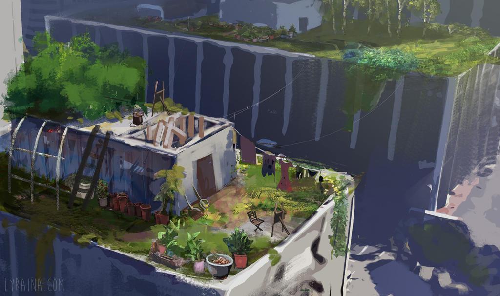 Rooftop Garden by Lyraina