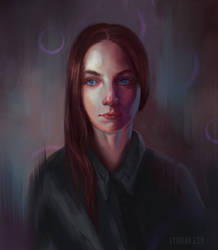 Self Portrait Day 2018 by Lyraina