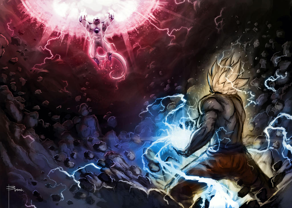 Goku vs Frieza by mobius-9