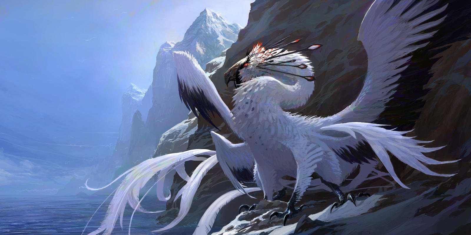Sky Blue Bedroom White Dragon By Mobius 9 On Deviantart